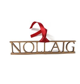 Snow Nollaig/ Christmas Wood Decoration