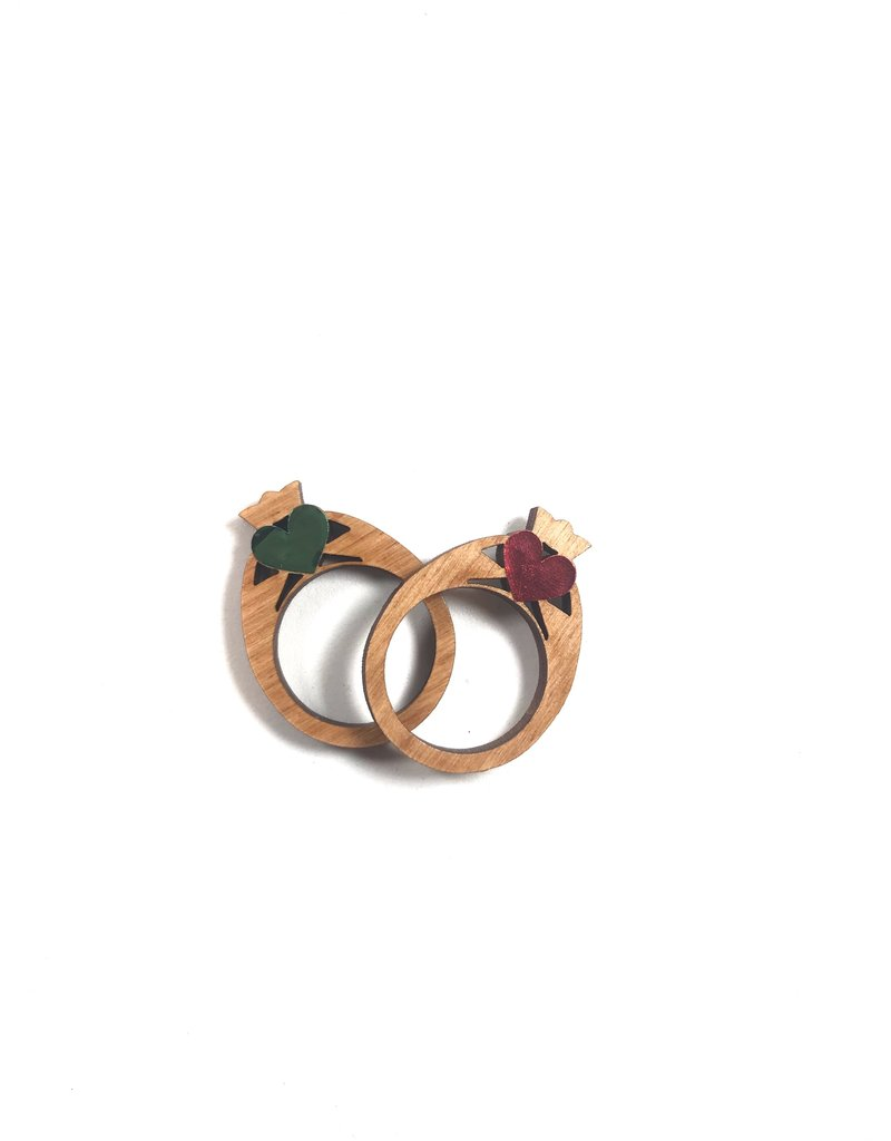 Snow Wooden Claddagh Ring