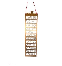 Snow Twas The Night Before Christmas Wooden Wall Art