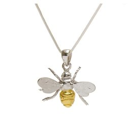 Gallardo and Blaine Bumble Bee Pendant with Gold Detail