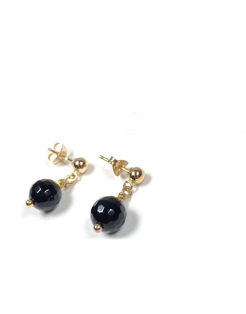 Vivien Walsh Black Onyx Dot Earrings