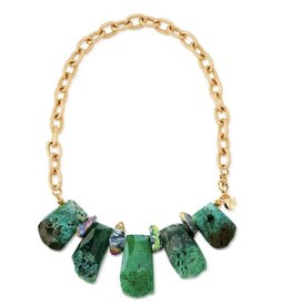 Aria V Emerald Island Necklace