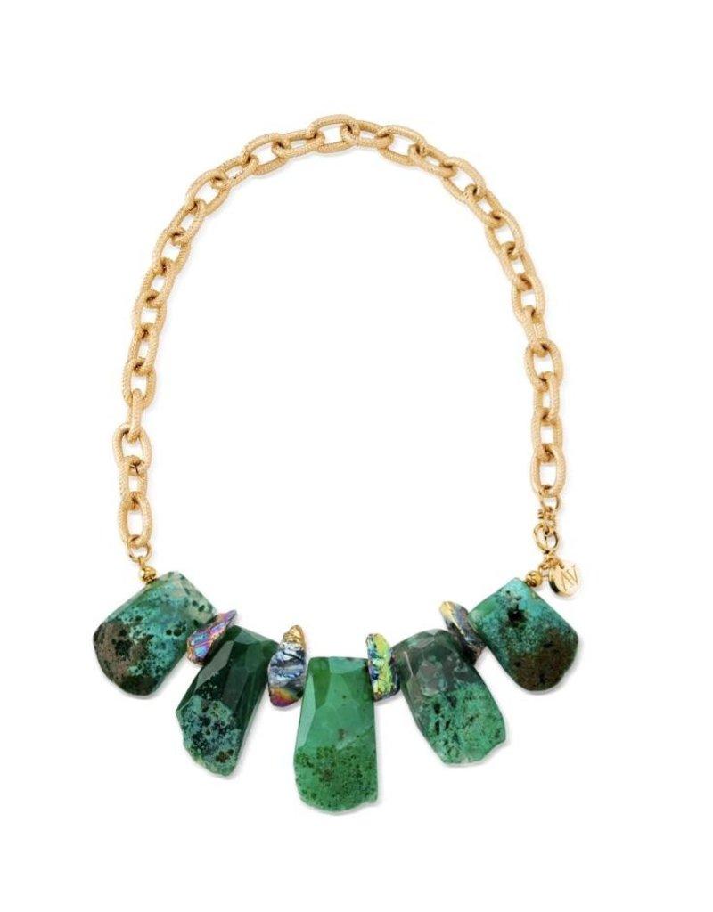Aria V Emerald Island Necklace