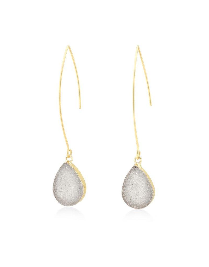 Aria V Eiran Druzy Drop Earrings