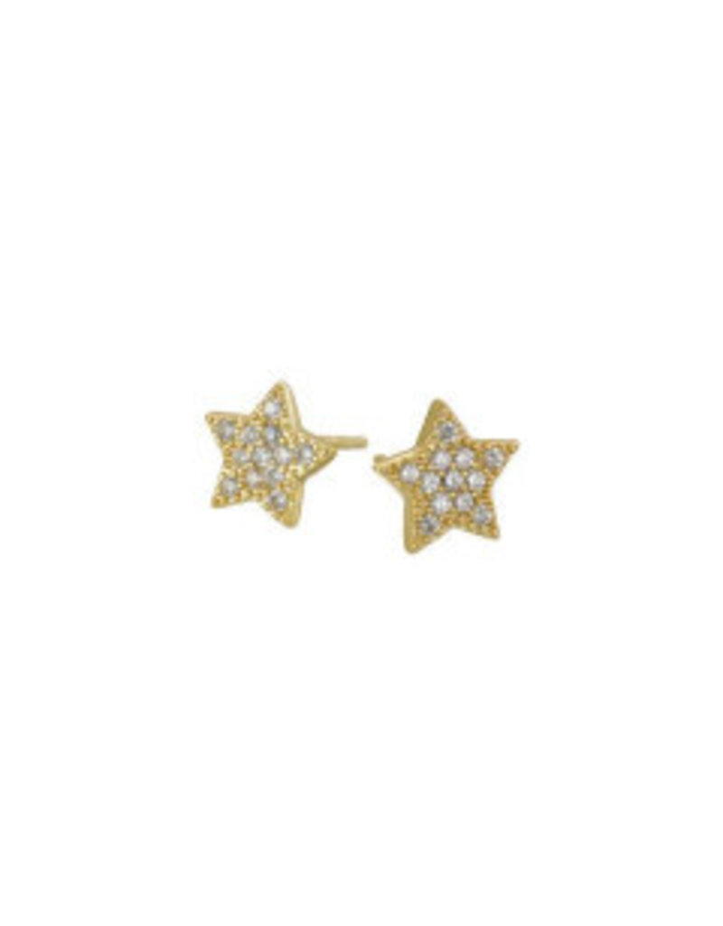 Mary k Jewellery Gold Pave Star Stud Earrings