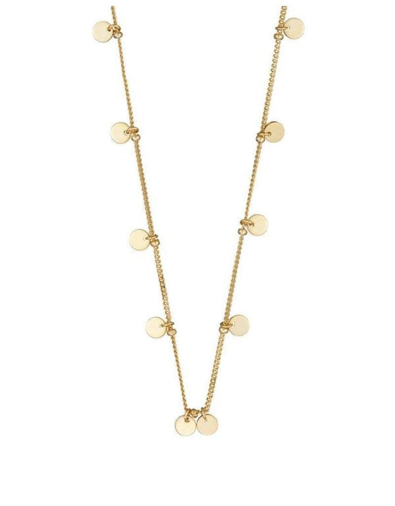 Mary k Jewellery Brushed Gold Tiny Drop Disc Necklace