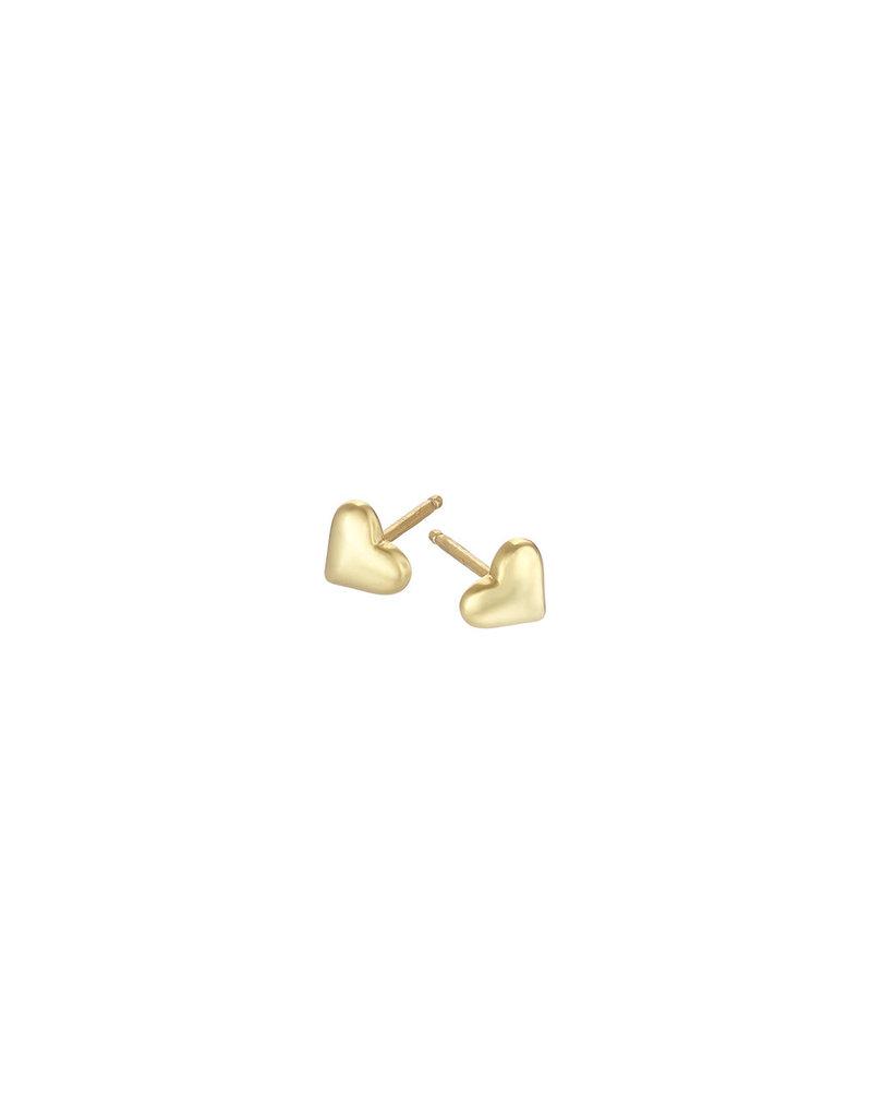 Mary k Jewellery Gold Small Heart Stud Earrings