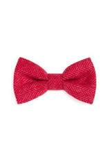 Orwell and Browne Donegal Tweed Bow Tie - Cerise