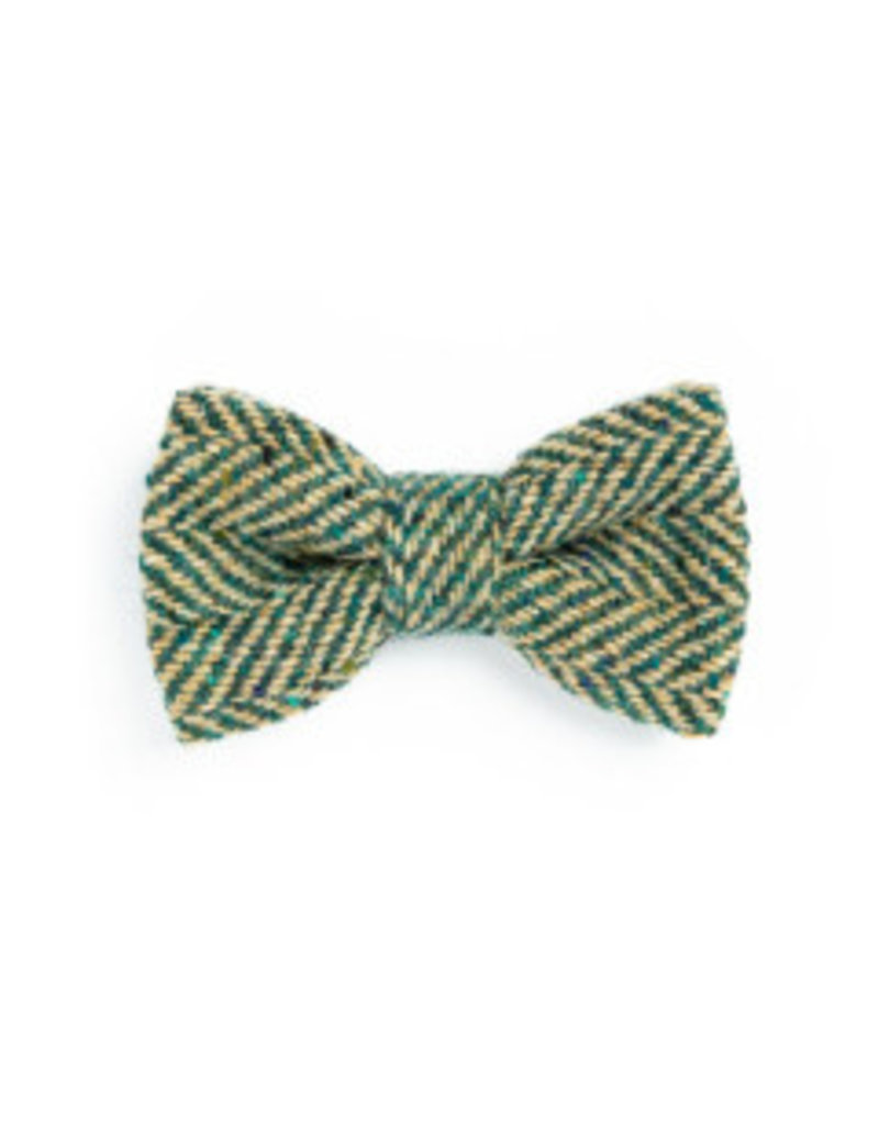 Orwell and Browne Donegal Tweed Bow Tie - Pine