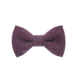 Orwell and Browne Donegal Tweed Bow Tie - Purpureal