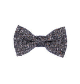 Orwell and Browne Donegal Tweed Bow Tie - Dappled Salt and Pepper