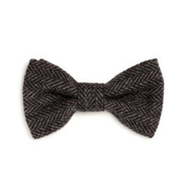 Orwell and Browne Donegal Tweed Bow Tie - Charcoal