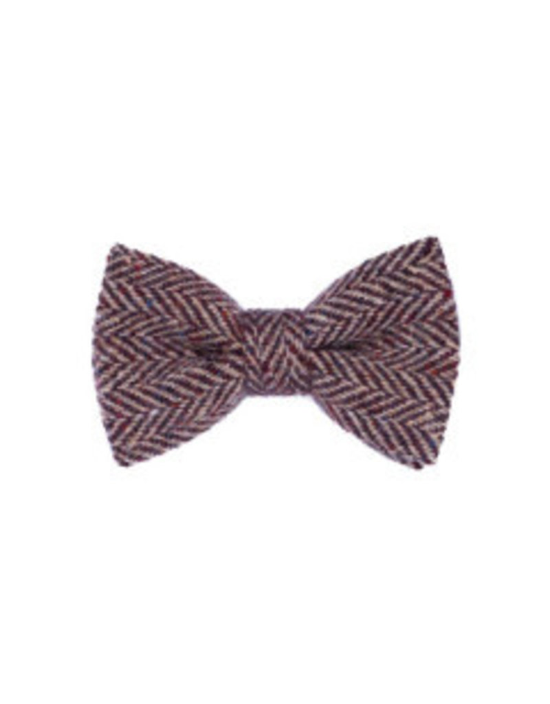Orwell and Browne Donegal Tweed Bow Tie - Rubicund