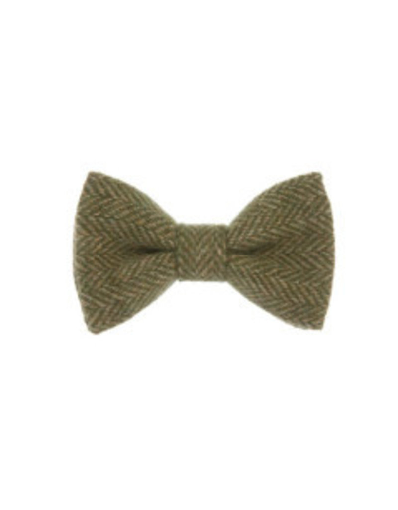 Orwell and Browne Donegal Tweed Bow Tie - Chartreuse