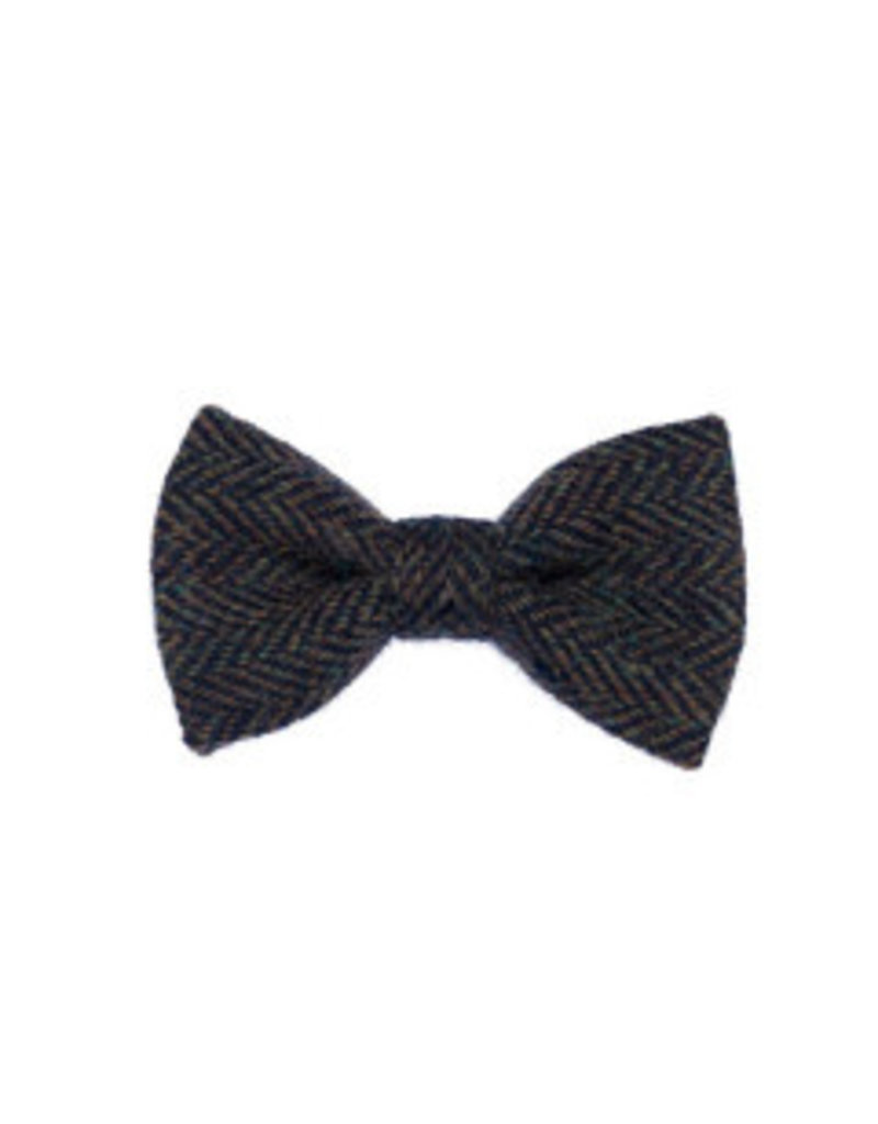 Orwell and Browne Donegal Tweed Bow Tie - Stippled Moss