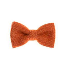 Orwell and Browne Donegal Tweed Bow Tie - Lichen Orange