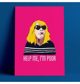 Fintan Wall Design Help Me I'm Poor A4 Print