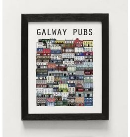 Cowfield Design Galway Pubs Framed Small