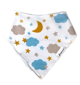 The Stork Box Stars and Clouds Dribble Bib