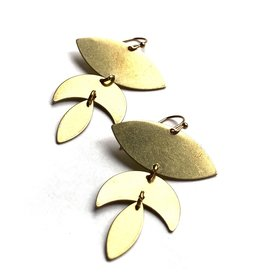 Kaiko Studio Statement Lotus Brass Earrings
