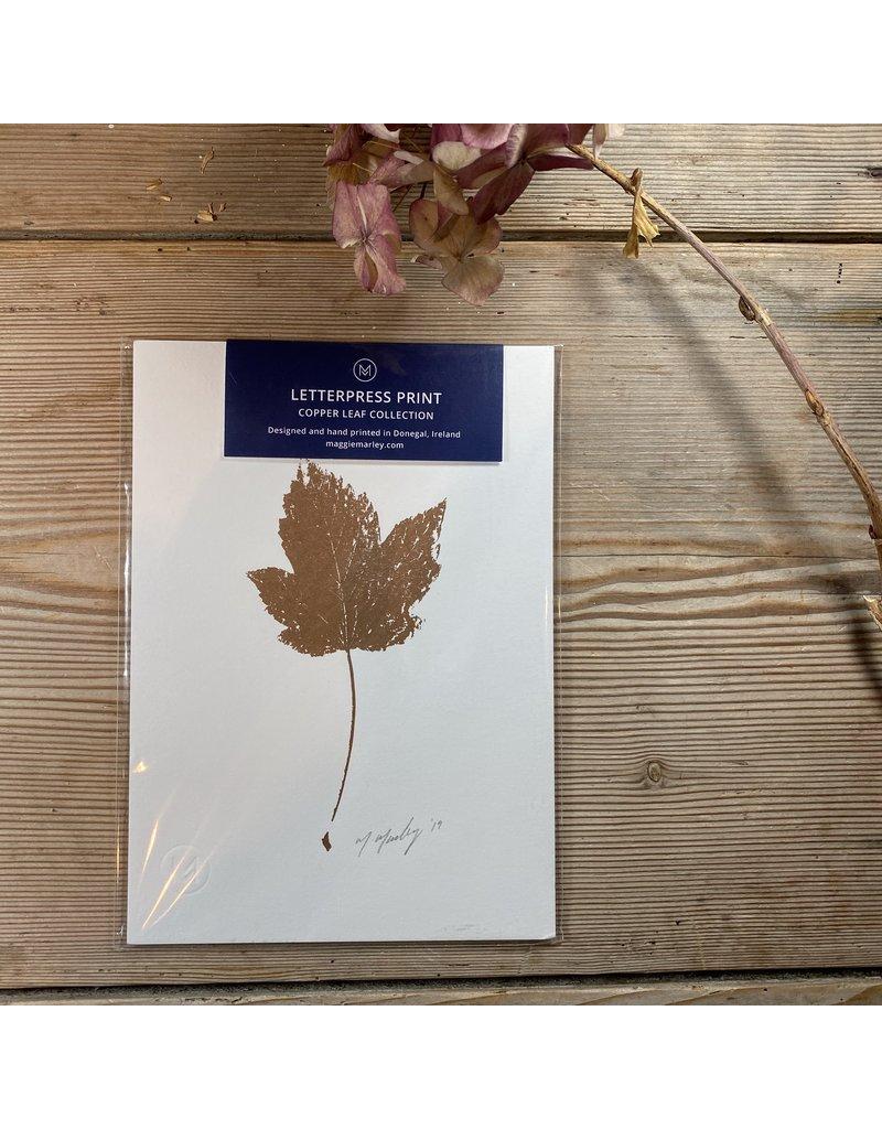 Maggie Marley Copper Sycamore Leaf Botanical A5 Print