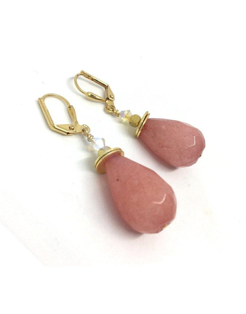 KKajoux Jewels Aeolian Pink Drop Short Earrings
