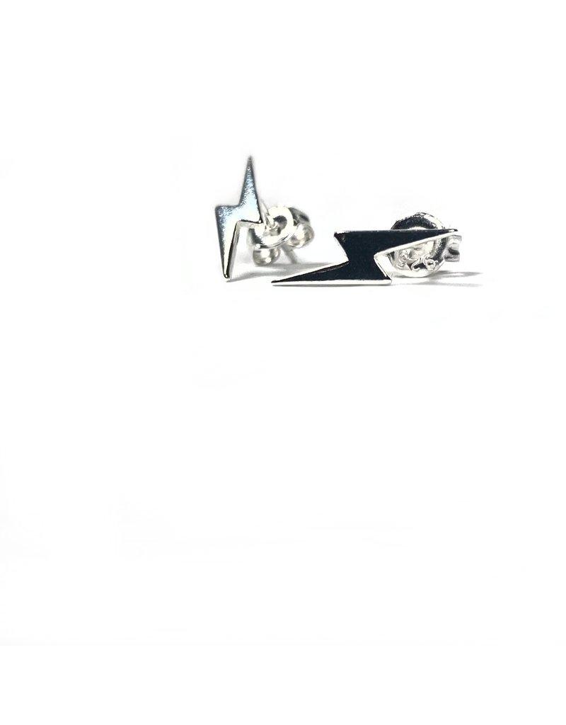 Mary k Jewellery Silver Lightning Bolt Stud Earrings