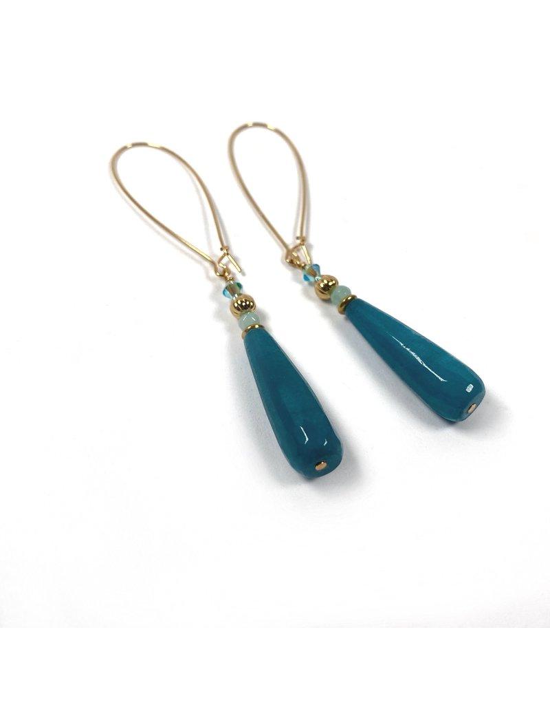 KKajoux Jewels Marigot Bay Long Drop Earrings