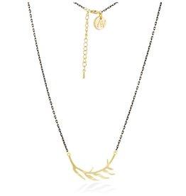 Aria V Gold Leaf Necklace