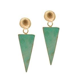 Aria V Avantgarde Turquoise Earrings