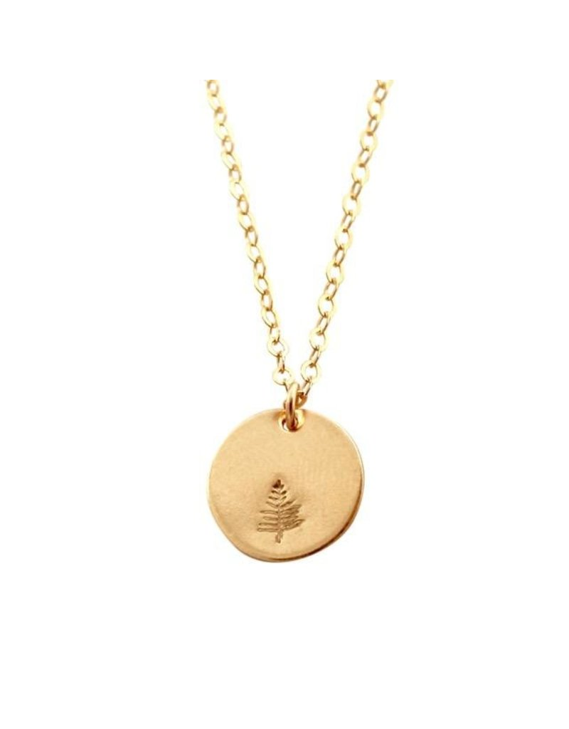 A Box for My Treasure Botanical Gold Necklace - Evergreen