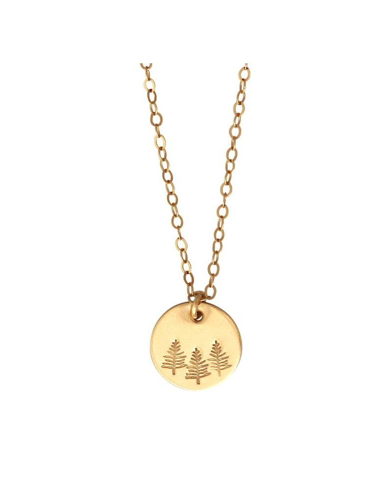 A Box for My Treasure Botanical Gold Necklace - Forest