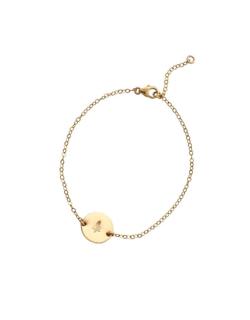 A Box for My Treasure Botanical Gold Bracelet - Evergreen
