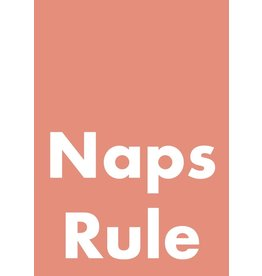 My Shop Collection Naps Rule A4 Print - Peach