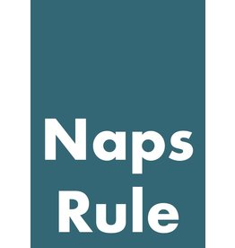 My Shop Collection Naps Rule A4 Print - Navy