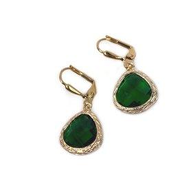 KKajoux Jewels Roman Green Teardrop Short Earrings