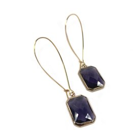 KKajoux Jewels Plum Deco Drop Long Earrings
