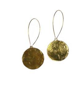 Daki Daki Design Small Round Brass Earrings