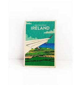 Ha'penny Design Ireland Wooden Postcard