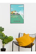 Ha'penny Design Dublin City A4 Print