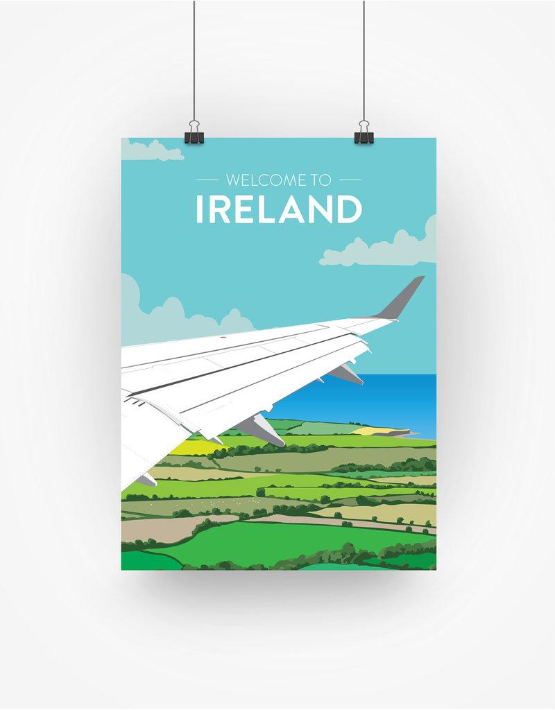 Ha'penny Design Ireland Travel A3 Print