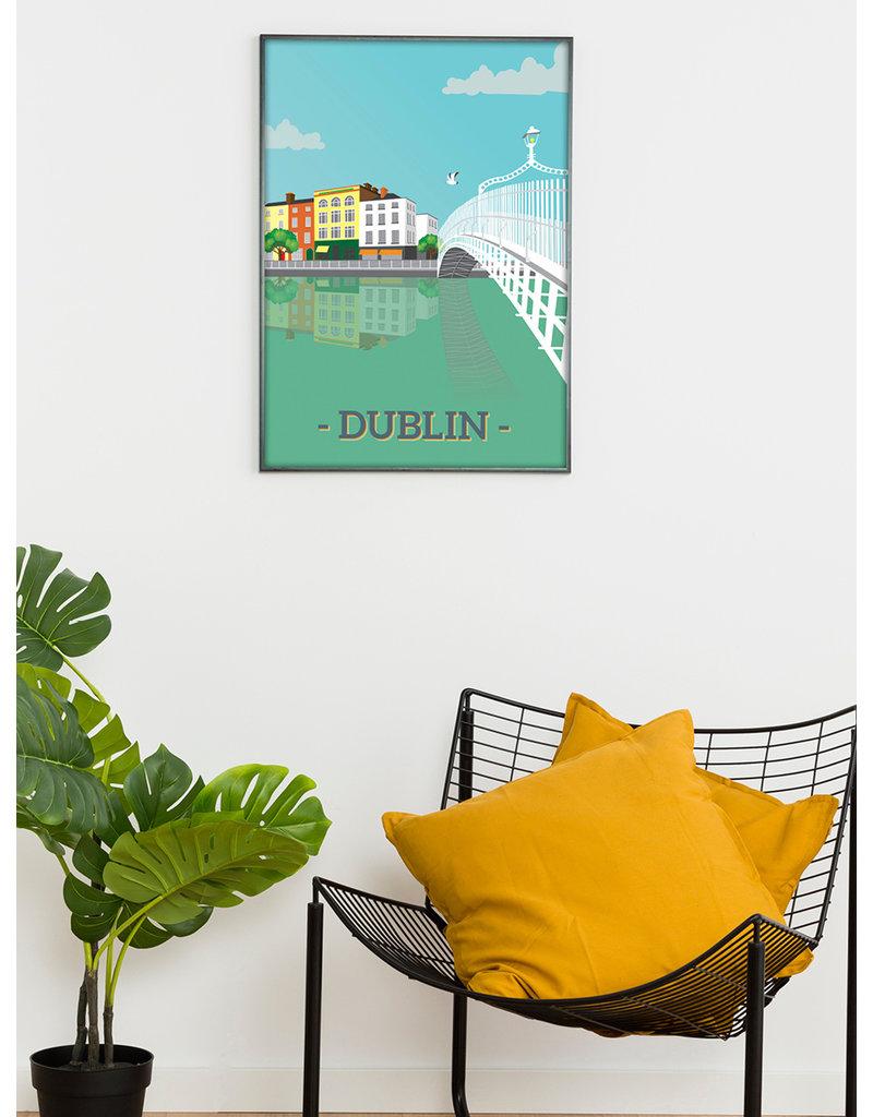 Ha'penny Design Dublin City A3 Print