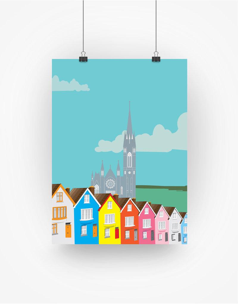 Ha'penny Design Cork City A3 Print