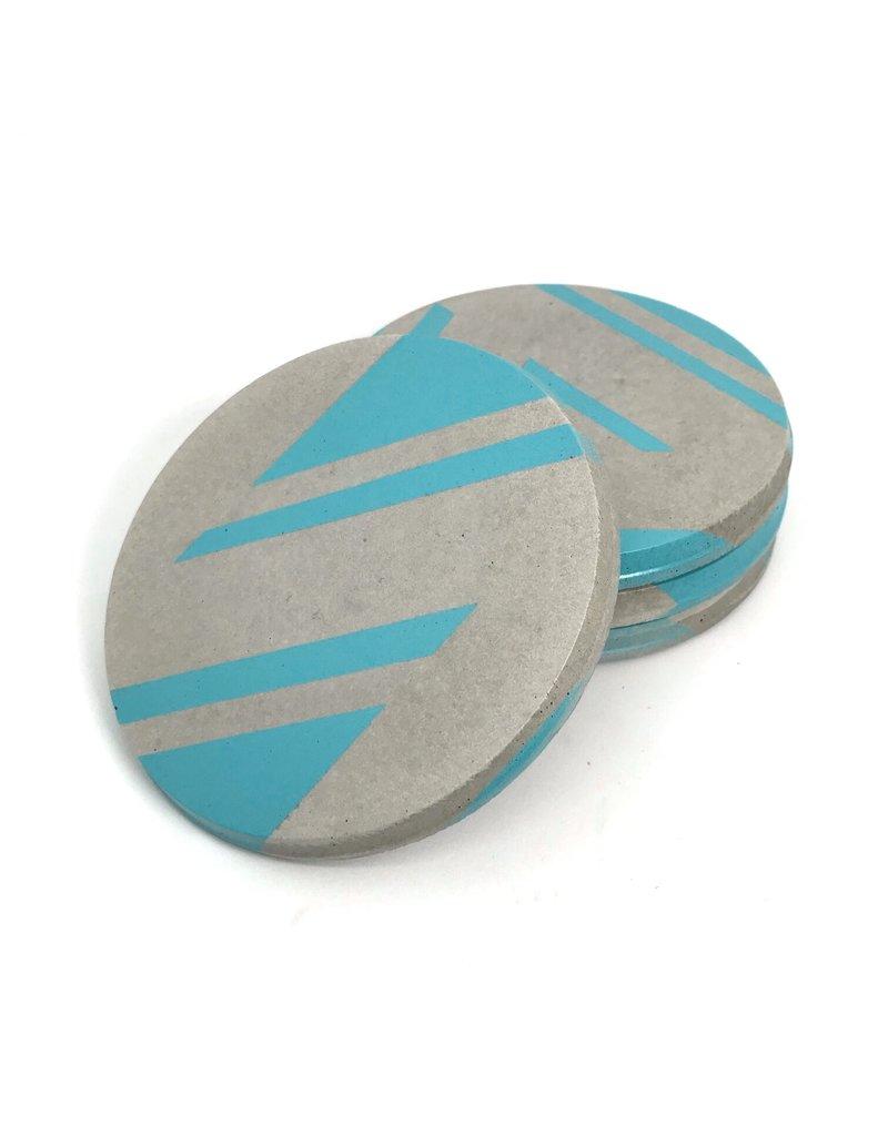 Ail+El Aqua Blue Concrete Coaster