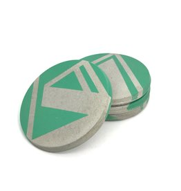 Ail+El Patina Green Concrete Coaster