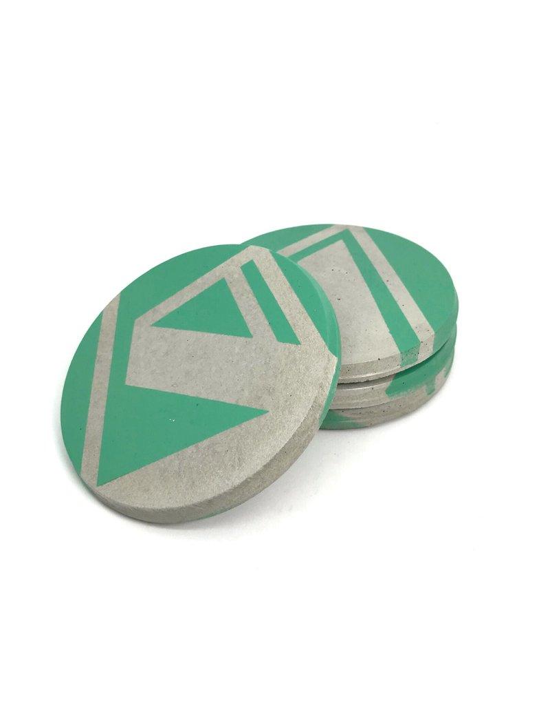 Ail+El Patina Green Concrete Coaster