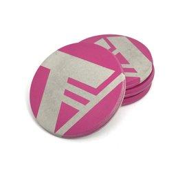 Ail+El Magenta Pink Concrete Coaster