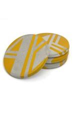 Ail+El Daffodil Yellow Concrete Coaster