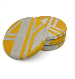 Ail+El Daffodil Yellow Concrete Coaster