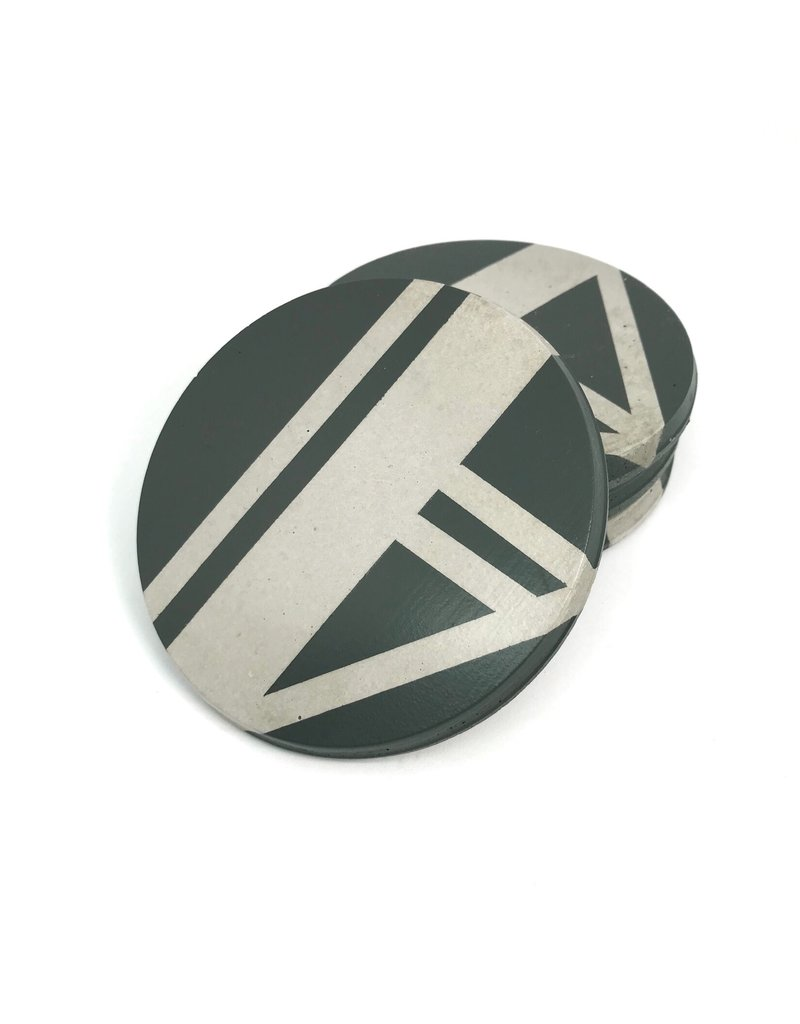 Ail+El Rhino Grey Concrete Coaster